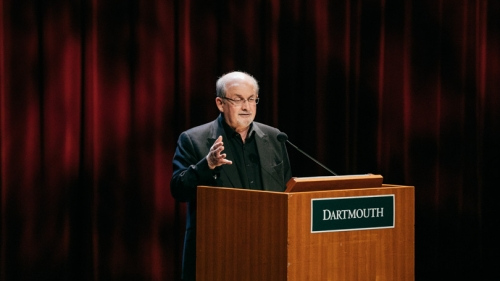 salman rushdie speaks at dartmouth, summer 2017