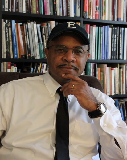 George Yancy sits in his office.