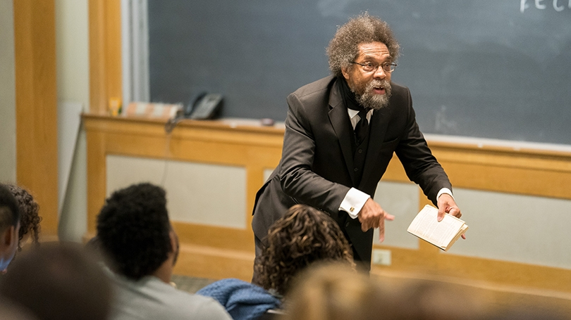 Visiting professor Cornel West